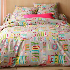 Linge de lit Happy, laissez-vous gagner par sa joie de vivre ! #home #deco #interior #blancheporte