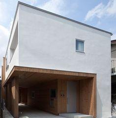 デザイン住宅 ガレージのある外観の二世帯住宅 埼玉県朝霞市a様邸