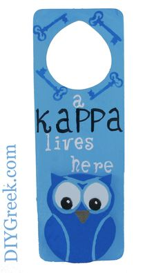 KKG Kappa Kappa Gamma Door Hanger made with Custom Stencils from DIYGreek.com.  The Supply Sack   makes it easy to make this sister gift.  Check out the Project Packs for the different projects that you can get.