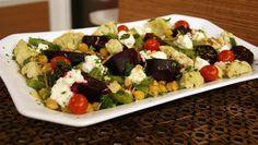 Salada de Grão-de-Bico com Beterraba