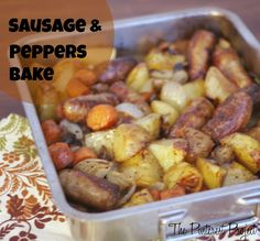 Sousage & Peppers Bake