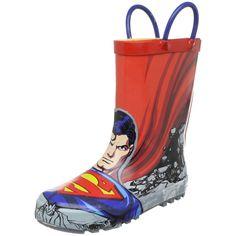 Amazon.com: Western Chief Superman Rain Boot (Toddler/Little Kid/Big Kid): Shoes