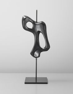 Os, a sculpture in glazed earthenware mounted on a painted metal tube, 1956 by Georges Jouve