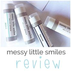 Messy little Smiles - lip balm review