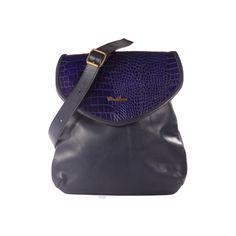 Cartera tipo bandolera de cuero - Palermo azul - VESKI Chile  veski.cl  Blue leather handbag purse