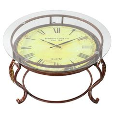 Aspire Home Accents Cocktail Table with Clock - 75648