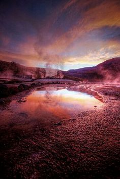 Mágico desierto de Atacama, geisers de Tatio, Chile