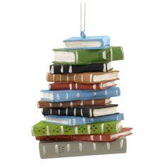 Librarian - Book Stack Ornament -