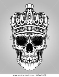 d2c778d62eaf0 Download Free Skull King Tattoo Designs skull king crown design element by  ... to