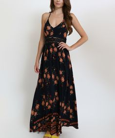Loving this funkitribe Navy & Red Floral Racerback Maxi Dress on #zulily! #zulilyfinds