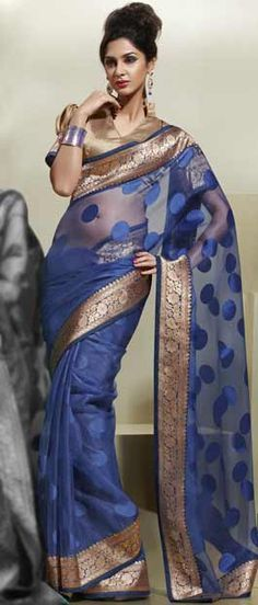 Saree, Sarees, Blue Saree, Designer Saree by #Utsavfashion | $66.82