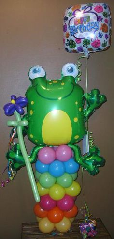 Frog Balloon Character