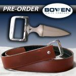 PREORDERThe Wide Double Edge Knife-Buckle with Brown Wide Belt.(Expected to arrive in 12-16 weeks)