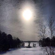 Flurries over Tonka. #winter #snow #lakeminnetonka #minnesota #tonka #flurries #sky #sun #nature