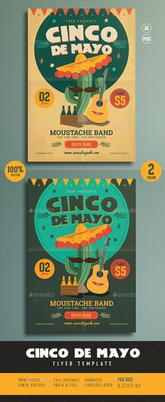Cinco De Mayo Flyer — Photoshop PSD #party #independence day • Available here → https://graphicriver.net/item/cinco-de-mayo-flyer/15700488?ref=pxcr