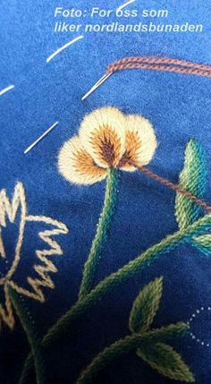 Scandinavian Embroidery, Wool Embroidery, Traditional Outfits, Norway, Tatting, Roots, Needlework, Textiles, Sewing