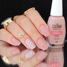Aquela esmaltação que é um verdadeiro SONHO!😍😍😍 💅Chic Pele📷@unhasdacarolina #ColoramaDaSemana #EsmaltesColorama #UnhasDaSemana #ViciadaEmVidrinhos Gel Uv Nails, Nude Nails, Pink Nails, Acrylic Nails, Color Nails, Nail Nail, Pretty Nail Colors, Pretty Nails, Perfect Nails