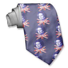 Pro Mrs Thatcher tie. #tories #union jack #british #Britain #flag #thatcher