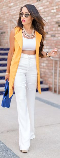 Color Block On White Fall Inspo by A Keene Sense Of Style  • Street CHIC • ❤️ Babz ✿ιиѕριяαтισи❀ #abbigliamento