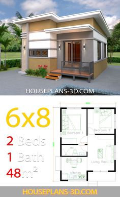 2 Bedroom House Floor Plan Design – Small House plans with 2 Bedrooms House Plans Small House plans with 2 Bedrooms House Plans Plan Home Design 2 Bedrooms House Design with 2 Bedrooms House Plans Plan Home Design 2 Bedrooms Samphoas 1 Pelosi appears … Simple House Plans, My House Plans, Simple House Design, Tiny House Design, House Floor Plans, 2 Bedroom House Design, 2 Bedroom House Plans, Small House Exteriors, Modern Tiny House