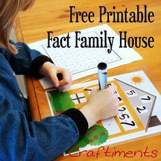 A fun way to teach addition and subtraction facts. Free Printable worksheet. Laminate and use over and over!