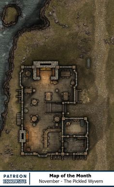 Map of the Month - Back Catalogue Fantasy Battle, Fantasy Map, Sci Fi Fantasy, Dungeons And Dragons 5e, Dungeons And Dragons Homebrew, Pathfinder Maps, Building Map, Rpg Map, Dungeon Maps