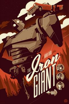 Inspiration | Iron Giant Poster By Tom Whalen