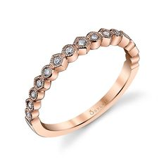 Unique Style Stackable Diamond Wedding Band | Diamond Wedding Ring