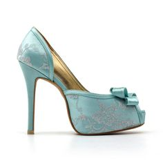 Tiffany Blue Wedding Heels Robbin Blue Egg by ChristyNgShoes, $90.00. I love these but they're probably too tall :(