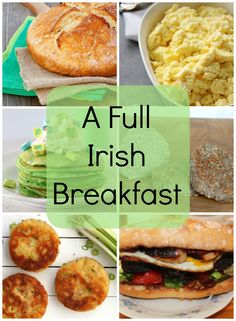 A Full Irish Breakfast: Here's all you need to know about recipes for traditional Irish breakfast. Make it anytime... especially when you're hungry! Don't forget to start St. Paddy's Day off with a breakfast like this!