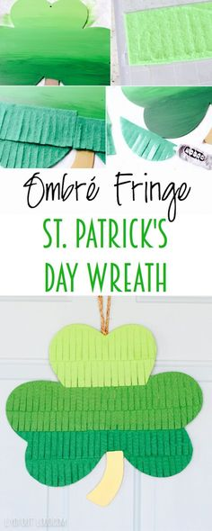 DIY Ombre Fringe St. Patrick's Day Wreath