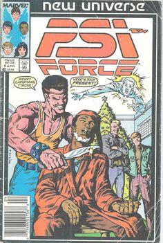PSI-Force New Universe Marvel Comics Vol 1 No 6 Apr 1987