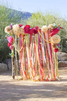 Crepe Paper Altar.. or a Photobooth backdrop. :)