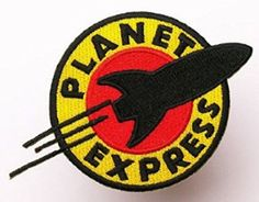 FUTURAMA Planet Express Iron Sew On Embroidered Patch Bad...