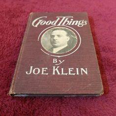 Good Things by Joe Klein Hard Cover Book by BlackFedoraArtnStuff, $8.50