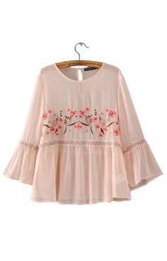 Trendy-Road-Style-Shop-Online-Woman-Fashion-Street-Blouse-Embroidery-Floral-Sweet-Pink-Long-Sleeve-Boho