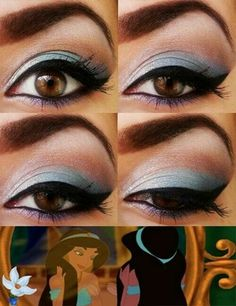 Jasmine-inspired eye makeup
