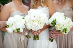 Peonies, Berries and roses bridesmaid bouquets. Peonies and roses bouquet for bride.