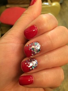 Holidays nails inspired from Pinterest.