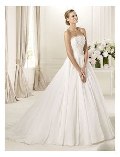 Square neckline Ball Gown Style Wedding Dress, look over and click the picture to purchase.