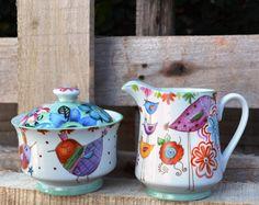 zancudos Ceramic Pottery, Ceramic Art, Decoupage, Posca, Pottery Painting, Kitchen Utensils, Kitchenware, Tea Time, Dinnerware