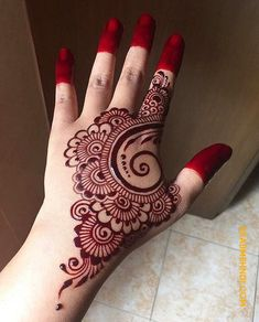 Top 7 back hand Mehndi designs - Henna - Hand Henna Designs Mehndi Designs For Kids, Finger Henna Designs, Back Hand Mehndi Designs, Mehndi Designs Book, Mehndi Designs For Beginners, Mehndi Design Pictures, Unique Mehndi Designs, Mehndi Designs For Fingers, Beautiful Henna Designs