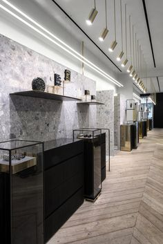Fine Jewellery Designer Ileana Makri's Flagship Concept Jewellery Store in the heart of Athens by Stelios Kois – Kois Associated Architects www. Jewellery Shop Design, Jewelry Shop, Jewelry Stores, Jewellery Box, Walmart Jewelry, Girls Jewelry, Jewelry Companies, Jewelry Holder, Luxury Jewelry