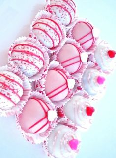 #Valentine's Day #pink #Cake Ball #Truffles  ToniK ℬe Meℜℜy www.etsy.com/listing/89796380/gluten-free-red-velvet-love-bites-cake?ref=cat1_gallery_23