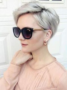 La última tendencia en cabellos cortos y rubios, ahora cenizos por completo.... Me encanta!