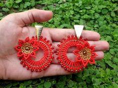 Beaded Earrings Patterns, Seed Bead Earrings, Diy Earrings, Jewelry Patterns, Beading Patterns, Fashion Earrings, Crochet Earrings, Seed Beads, Diy Jewelry