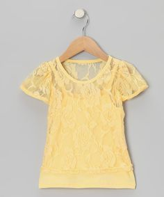Another great find on #zulily! Share n' Smiles Yellow Lace Tee & Camisole - Toddler & Girls by Share n' Smiles #zulilyfinds