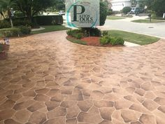 Glamorize Your Driveway With The Addition Of Decorative Concrete Overlay Decorativeconcrete Decorativeoverlay
