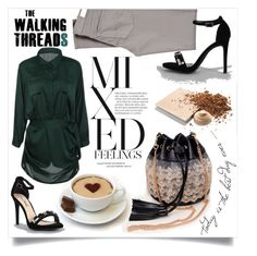 """""""The walking threads"""" by fashion-pol ❤ liked on Polyvore featuring Anne Michelle, AG Adriano Goldschmied and Mary Kay"""