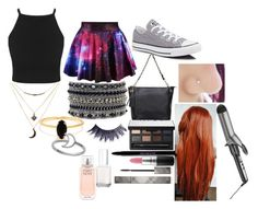 """""""Niall Horan's Girl"""" by chloe-775 ❤ liked on Polyvore featuring Converse, Relaxfeel, Charlotte Russe, Bing Bang, Conair, Urban Decay, NARS Cosmetics, MAC Cosmetics, Burberry and Manic Panic"""